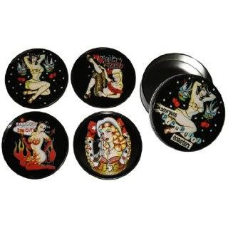 Vandor Bettie Page Coasters, Set of 4