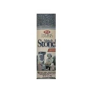 Krylon 18201 MAKE IT STONE TEXTURED SPRAY PAINT Black Granite