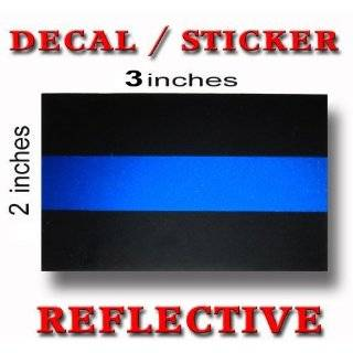 Thin Blue Line Decal Sticker   REFLECTIVE