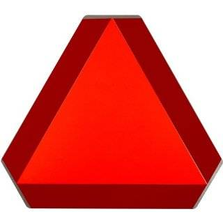 14 Height, Steel, Reflective Orange and Red Slow Moving Vehicle Sign