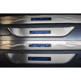 TOYOTA CAMRY CHROME DOOR SILLS STAINLESS STEEL w/ BLUE LIGHTS SET 2007