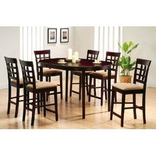 Modern Counter Height 7 Pc Pub Bar Dining Table Set