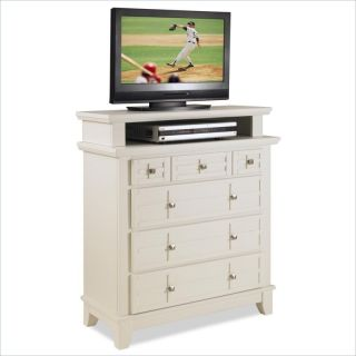 Home Styles Arts Crafts Media Chest White Finish TV Stand