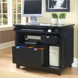 Home Styles Arts Crafts Compact Black Finish Computer Desk