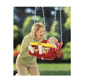 Red Baby Swing Fisher Price Safe Secure Harness Infant to Toddler Outdoor Play
