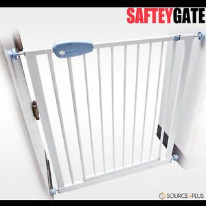 Child Kids Expandable Baby Pet Dog Puppy Safety Gate Door Barrier Fence Metal