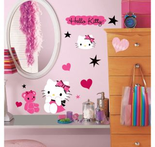 38 Hello Kitty Couture Kids Girls Decor Room Wall Decals Stickers Stick UPS New
