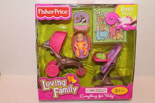 Fisher Price Loving Family Everything for Baby Dollhouse Furniture Set New