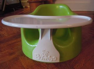 Lime Green Bumbo Baby Seat Includes Feeding Tray Baby Booster Seat Excellent