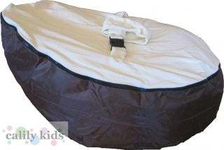 Baby Toddler Kids Portable Bean Bag Seat Snuggle Bed Brown Cream