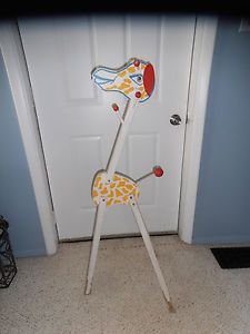 Vintage Wood Wooden Giraffe Clothes Coat Rack Stand Baby Nursery Room