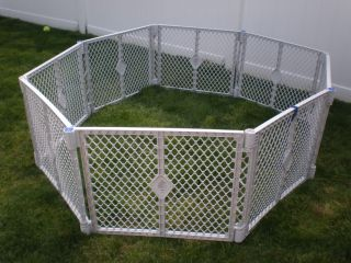 North States Superyard XT Baby Pet Gate Play Yard 8 Panels