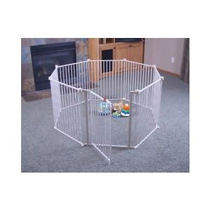 Extra Wide Baby Safety Gate Play Yard Toddler Dog Fireplace Stair Guard Outdoor