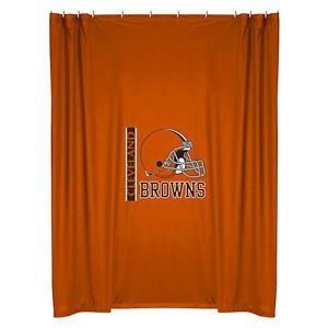 NFL Cleveland Browns Decorative Shower Curtain Football Bathroom Accessories