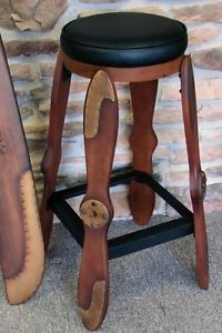 30 inch Wood Airplane Propeller Bar Stool
