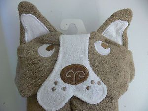 Circo Brown Puppy Dog Childrens Hooded Bath Towel So Very Cute Brand New