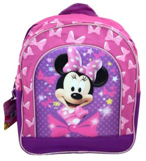 "Disney Mickey Minnie Mouse Kids Toddler School Pink 11"" Backpack School Bag New"