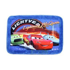 New Pixar Cars Car Lightning McQueen Soft Home Bath Rug Mat Floor Carpet""