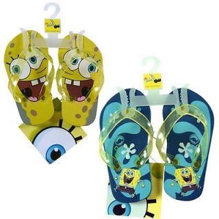 Nick Jr Spongebob Squarepants Kids Boy Thong Flip Flops Beach Sandals 1 Pair