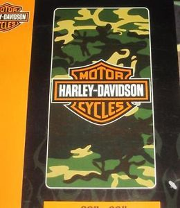 New Camo Camouflage Harley Davidson Motorcycle Large Bath Beach Towel Biker Gift