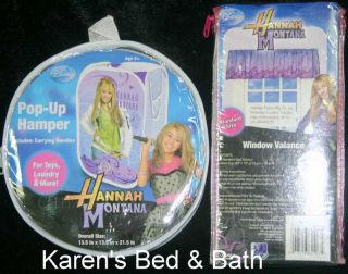 Hannah Montana Girls Full Comforter Sheets Drapes Valance Pillow Hamper New