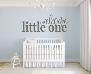 Welcome Little One New Baby Bedroom Wall Stickers Wall Art Decal Transfers