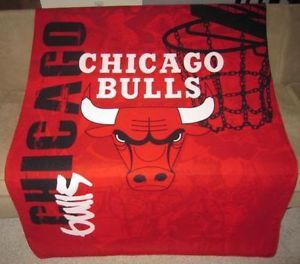 New Chicago Bulls Soft Fleece Throw Gift Blanket NBA Basketball Team Logo D Rose