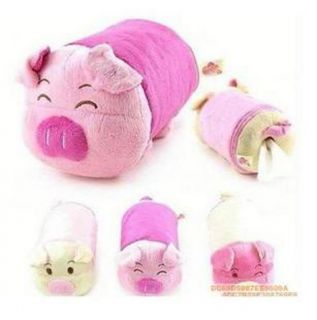 Round Pink Pig Piggy Tissue Box Cover Holder Toilet Paper Roll Container Case