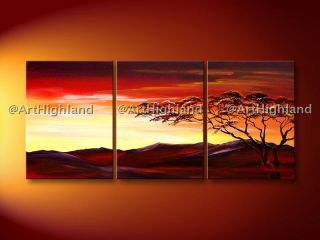 Original Modern Abstract Oil Paintings Painting African Canvas Wall Art Deco Set