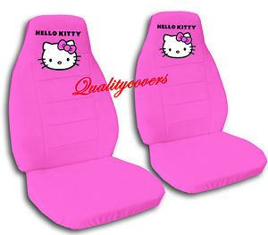2 Cute Hello Kitty Car Seat Covers Chevy Tahoe Velvet Hot Pink