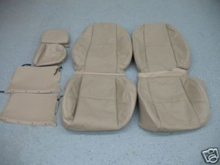 07 08 09 Chevy Truck Silverado Sierra Tahoe Katzkin Leather Seat Cover Set