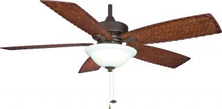 "Fanimation FP8011OB Cancun Bronze Outdoor 52"" Ceiling Fan w Light"