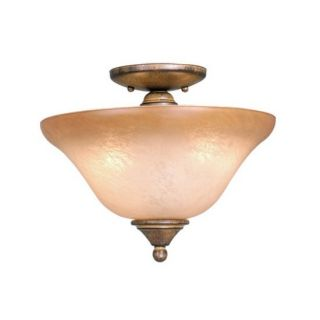 New 2 Light Semi Flush Ceiling Lighting Fixture or Fan Light Kit Bronze