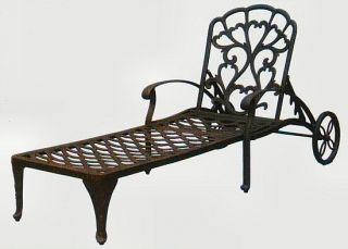 Antiqued Bronze Brown Catalina Chaise Lounge