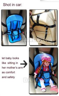 Portable Baby Kids Children Car Carrier Safety Seat Cover Cushion Mesh Harness B