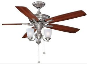 Hampton Bay Havenville 52 inch Ceiling Fan with Light Kit Brushed Nickel