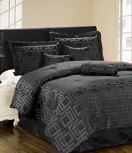 7 Piece Luxury King Comforter Set Ultra Plush Home Bedding