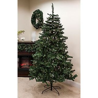 Bright Gate 6.5(H) Pre Lit Traditional Mixed Pine Artificial Christmas Tree, Clear Light
