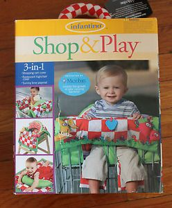 Infantino Shop Play 3 in Shopping Cart High Chair Cover Play Mat