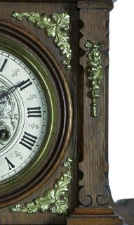 Gorgeous Antique Gustav Becker Balcony Free Swinger Wall Clock at 1885