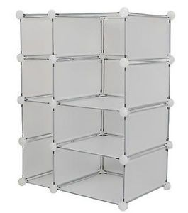 Interlocking Room Closet Book Clothes Toys Games Storage Organizer Cube Unit