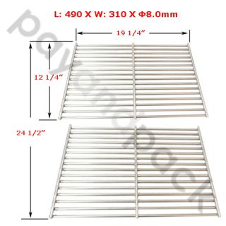 PayandPack Brinkmann BBQ Gas Grill Stainless Steel Cooking Grate Grid 5S612 2pk