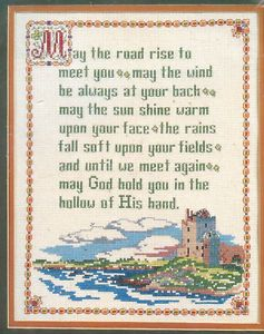 Lovely Irish Blessing Stamped Cross Stitch Kit