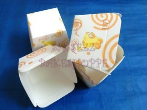 Muffin Baking Paper Cups Cases Square White Swirl 20pcs