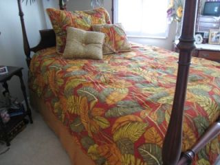 Luxury Croscill Twin Comforter Set Tropical Safari