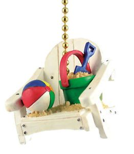 Tropic Tiki Island Beach Chair Decor Ceiling Fan Light Pull