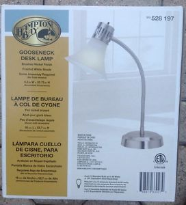 Hampton Bay Gooseneck Desk Lamp