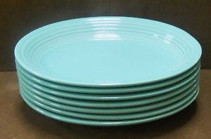 Green Fiesta Ware Lot 7 Oval Dinner Plates Deep Dish Style Homer Laughlin