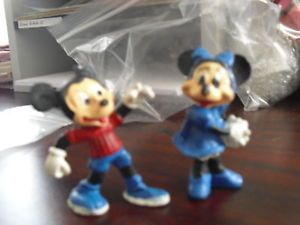 Vintage Lead Disney Mickey Minnie Mouse Figurines
