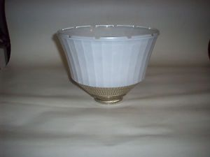 Vintage 8 inch Paneled Art Deco Glass Floor Torchiere Table Light Lamp Shade